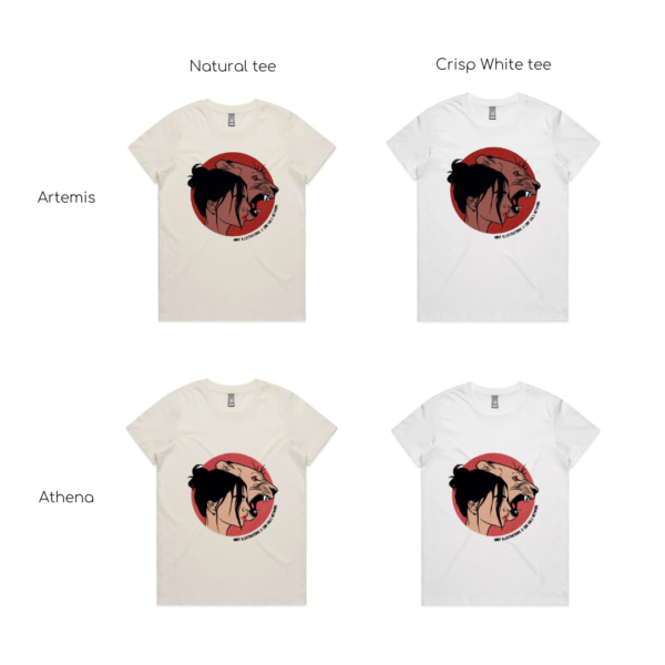 image shows different tee and design styles