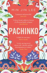 Image shows the cover of Min Jin Lee's fiction, Pachinko